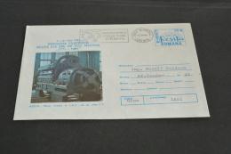 TR977- Romania - Postal  Enveloppe  Stationary -  Adressed- 1981- Exposition Filately- Resita- Motor Diesel 12 L.D.S-28 - Treni