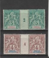 Sénégal Et Dépendances - 2 Millésimes Groupe 1892&1904