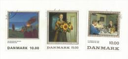 DANNEMARK  3 TABLEAUX  OBITERES  SUPERBES - Usado