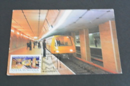 TR1200-  Romania - Postal Card Stationary- Metro Station Bucuresti Eroilor - Treni