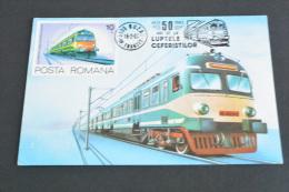 TR1201-  Romania - Postal Card Stationary-  1983-  50 Years Ceferistilor - Electric Train - Treni