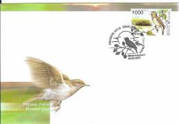 Belarus 2007 FDC Fauna Birds Oiseaux Vögel Nightingale Bird - Belarus