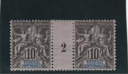 Sénégal Et Dépendances - 1 Millésimes Groupe 1892 N°12