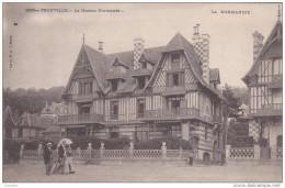 Cpa Trouville - La Maison Normande - Animée - Trouville