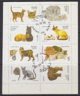 Oman 1973 Cats  8v In Sheetlet Used (F5125) - Oman