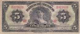 BILLETE DE MEXICO DE 5 PESOS DEL AÑO 1969   (BANKNOTE) - Mexico