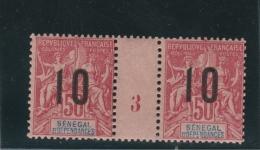 Sénégal Et Dépendances - 1 Millésimes 50c Groupe Surchargé 1893