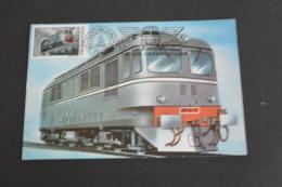 TR1436-Romania - Postal Card Stationary-1988- 100 Years - Ziua Ceferistilor- Diesel Locomotive- Electric - Treni