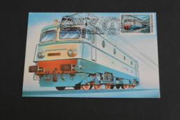 TR1437-Romania - Postal Card Stationary-1988- 100 Years - Ziua Ceferistilor- Locomotive- Electric - Treni