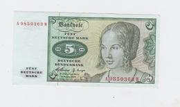 Billet Allemand  5 Mark  Pick 18 Du 2_1_1960 - [ 7] 1949-… : RFA - Rep. Fed. De Alemania
