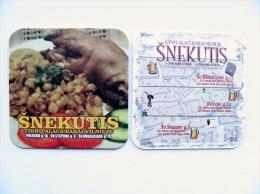 Beer Bier Coaster From Lithuania Snekutis - Sous-bocks