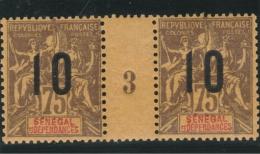 Sénégal Et Dépendances - 1 Millésimes 75c Groupe Surchargé 1893