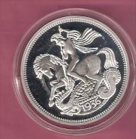 ENGELAND EDWARD VIII HORSE SILVER PROOF - Grande-Bretagne
