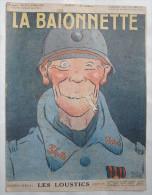 LA BAÏONNETTE :N° 38 . 23-03-1916 : LES LOUSTICS : CAPPIELLO - HUARD - LEROY - ALLIER - BOFA - GENTY - VILLEMOT - 1901-1940