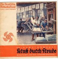 WWII - KRAFT DURCH FREUDE - DEUTSCHE ARBEITFRONT JUNI 1940 - SACHSEN - DRESDEN - Tedesco