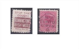 """Nouvelle Zélande Publicité """"Bonninctons Irish Moss, Stop That Cought !"""" - Used Stamps"""