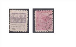 "Nouvelle Zélande Publicité ""Bonninctons Irish Moss, Increases The Flexibility Of The Voice"" - Used Stamps"