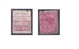"""Nouvelle Zélande Publicité """"Bonninctons Irish Moss, Universal Specific For Colds"""" - 1855-1907 Crown Colony"""