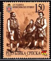 Bosnia And Herzegovina Serb Admin MNH Scott #117 1.50d Nevesinje Rebellion. 125th Anniversary - Bosnie-Herzegovine