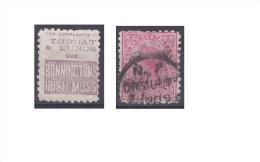 """Nouvelle Zélande Publicité """"Bonninctons Irish Moss, Throat & Lungs Use """" - Gebraucht"""