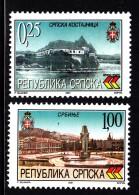 Bosnia And Herzegovina Serb Admin MNH Scott #142-#143 Set Of 2 Kostanica. Srbinje - Bosnie-Herzegovine