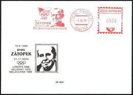ATHLETICS - CZECH REPUBLIC PRAGUE 2000 - METER / EMA EMIL ZATOPEK - OLYMPIC WINNER LONDON '48 / HELSINKI '52 - Atletica