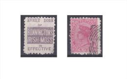"""Nouvelle Zélande Publicité """"Bonninctons Irish Moss, Every Dose Of """" - 1855-1907 Crown Colony"""