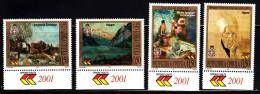 Bosnia And Herzegovina Serb Admin MNH Scott #155-#158 Set Of 4 Paintings - Bosnie-Herzegovine