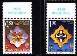 Bosnia And Herzegovina Serb Admin MNH Scott #206-#207 Set Of 2 Medals/Orders - Bosnie-Herzegovine