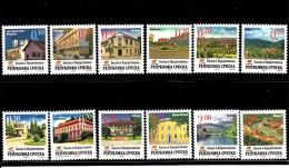 Bosnia And Herzegovina Serb Admin MNH Scott #298-#309 Set Of 12 Different City And Town Views - Bosnie-Herzegovine