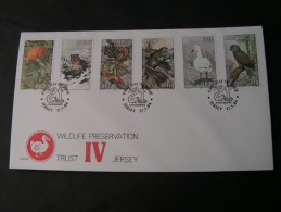 == Jersey FDC Birds 1984 - Jersey