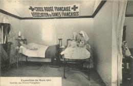 CROIX ROUGE FRANCAISE ASSOCIATION DES DAMES FRANCAISES EXPOSITION DU MANS 1911 PAVILLON DES DAMES FRANCAISES - Santé