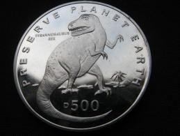 Bosnia And Hercegovina 500 Dinara-1993(Pobjoy Mint-Preserve Planet Earth-Tyrannosaurus)PP - Bosnia And Herzegovina