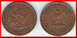QUALITE / SATIRIQUE **** MODULE DE LA 5 CENTIMES NAPOLEON III LE MISERABLE - VAMPIRE FRANCAIS - SEDAN 1851 - 1870 **** - Variétés Et Curiosités