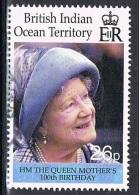 2000 - B.I.O.T. - CENTENARIO DELLA REGINA MADRE. USATO - Territorio Britannico Dell'Oceano Indiano