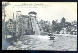 Cpa Du  75 Paris 17è Luna Park Water Chute Arrivée Bateau Sur Lac Après Chute De 25m De Haut  LIOB12 - Arrondissement: 17