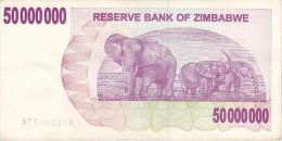 BILLETE DE ZIMBAWE DE 50000000 DOLLARS DEL AÑO 2008  (BANKNOTE) ELEFANTE-ELEPHANT - Zimbabwe