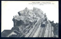 Cpa Du  75 Paris 17è Luna Park Scenic Railway Première Descente Rampe Massif Pikes Peak  LIOB12 - Arrondissement: 17