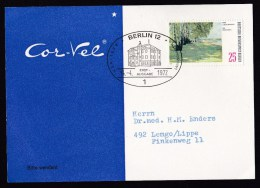 Germany-Berlin: Cor-Vel Medicine Advertorial Postcard, 1972, Single Franking, First Day Cancel, Wansee (traces Of Use) - [5] Berlijn