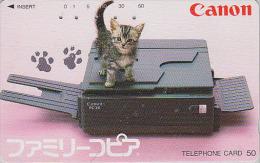 Télécarte Japon / 290-9667  - ANIMAL - CHAT / Photocopieur - CAT Japan Phonecard - KATZE Telefonkarte - GATO - KAT  2665 - Gatos