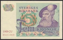 Sweden 5 Kronor 1969 P51aUNC - Suède