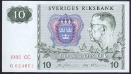 Sweden 10 Kronor 1983 P52d UNC - Suède