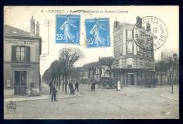 Cpa Du 78  Croissy Avenue Du Vésinet Et Avenue Carnot   LIOB12 - Croissy-sur-Seine