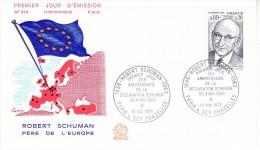 FRANCE  1975 EUROPA SYMPATHY ISSUE  FDC - European Ideas