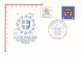 AUSTRIA  1975  EUROPA SYMPATHY ISSUE  FDC - European Ideas