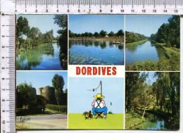 DORDIVES   -   Au Confluent  Du Loing Et Du  Canal Du  Loing  -  5  Vues  -  Illustration - Dordives