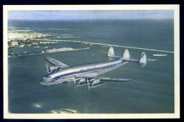 Cpa Aviation Avion Lockeed Constellation En Service Sur Les Lignes Air France  LIOB12 - 1946-....: Era Moderna