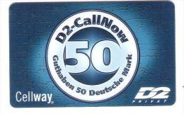 GERMANY  - D2 Privat - Call Now - Provider Cellway - Date : 10/02 - Germany