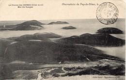 """1907-Recette Auxil. Gérance Gratuite - Tad """"OBSERVATOIRE DU PUY-DE-DOME"""" -TP Blanc N°111 - Marcofilia (sobres)"""