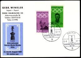 Germany Köln 1968 Olympic Games Mexico City / 15 Years Of International Men´s Fashion Week - Zomer 1968: Mexico-City